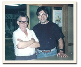 Dan Zeff and Manuel Reyes in his workshop (1993)